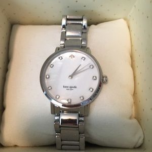 Authentic Kate Spade Gramercy Watch in Silver